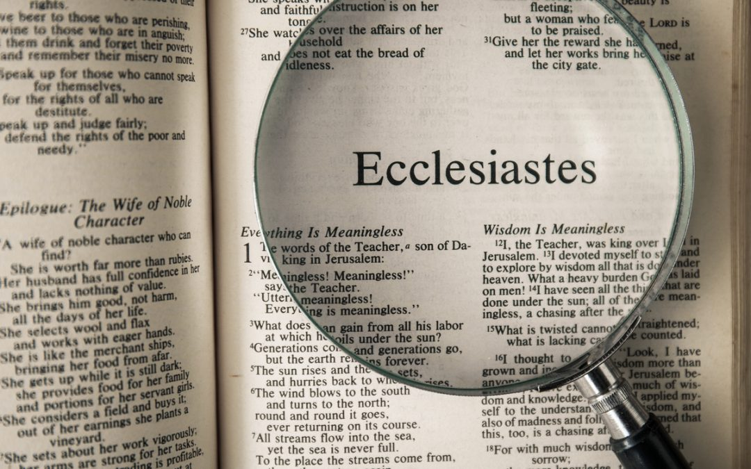 Resources for Your Study Through Ecclesiastes