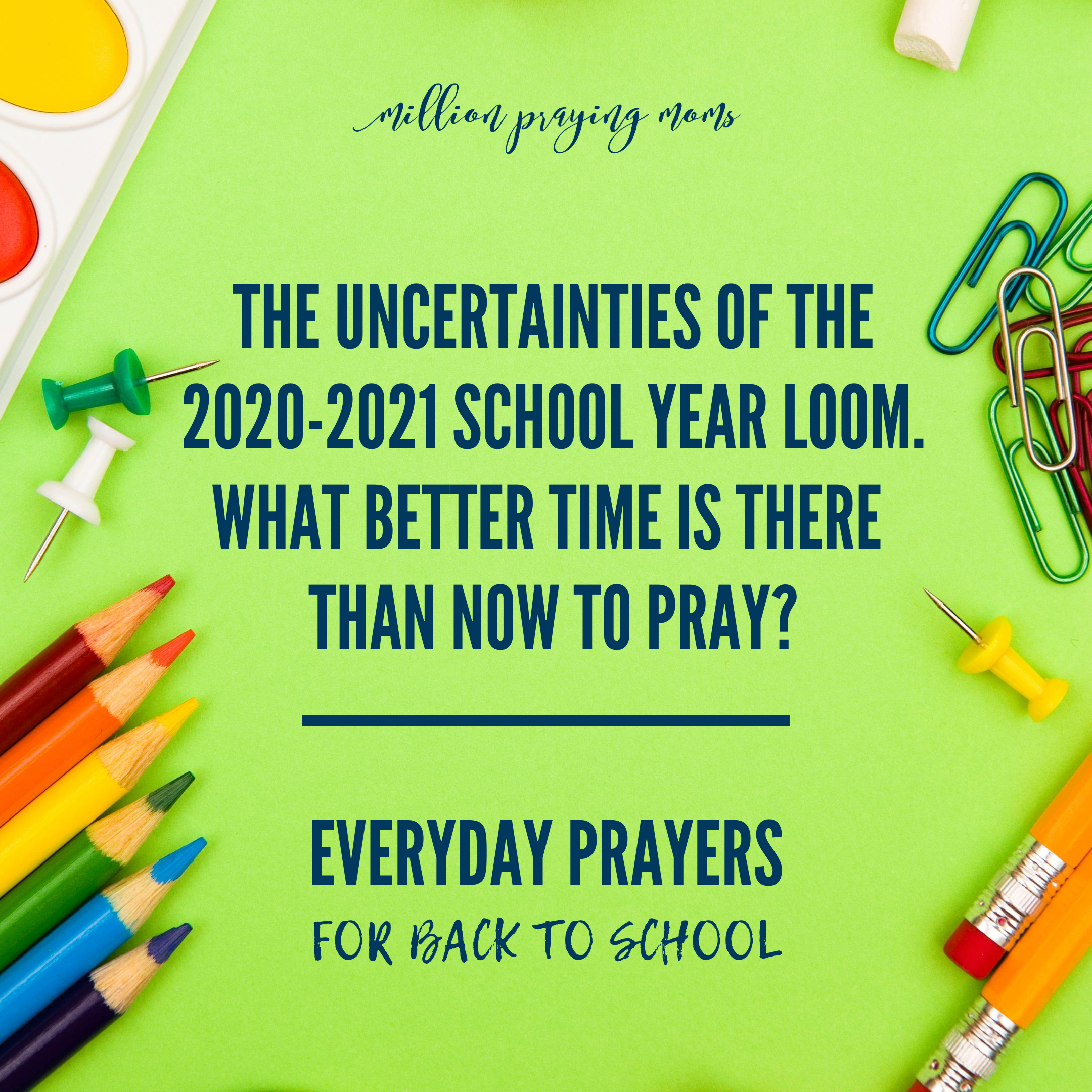 Everyday Prayers for Back To School